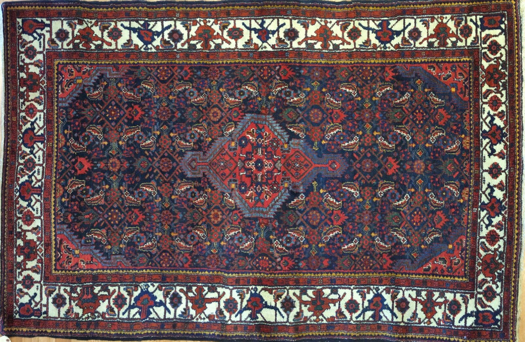 Marvelous Malayer - 1930s Antique Persian Rug - Tribal Carpet - 4'6