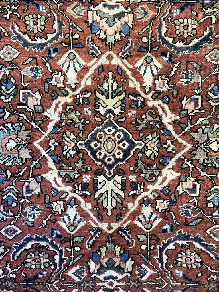 "Marvelous Mahal - 1920s Antique Oriental Rug - Nomadic Carpet - 7'2"" x 10'4"" ft."