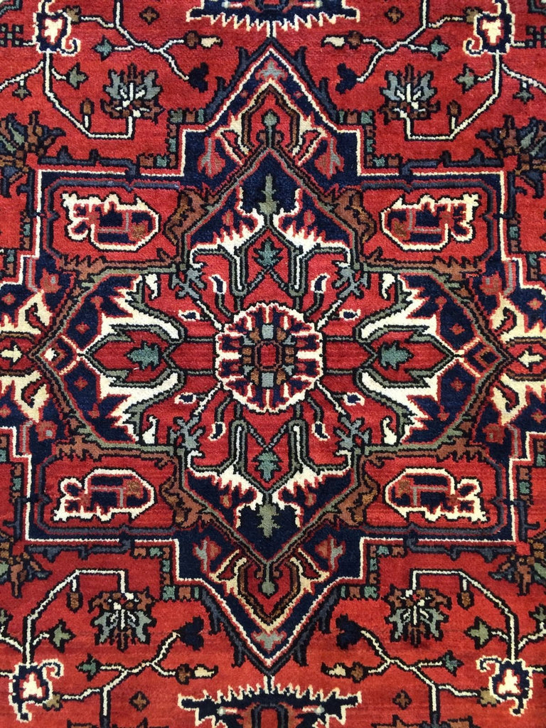 "Intricate Indian - Vintage Oriental Design - Nomadic Rug - 6'1"" x 8'10"" ft."