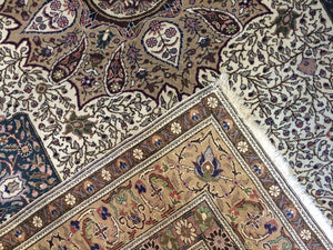"Terrific Turkish - 1940s Antique Kayseri Rug - Oriental Floral Carpet 6'5"" x 10'1"" ft."