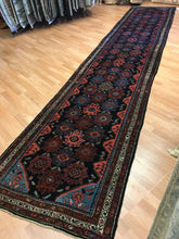 "Load image into Gallery viewer, Handsome Hamadan - 1920s Antique Persian Rug - Tribal Runner - 3'1"" x 18' ft."