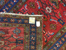 "Load image into Gallery viewer, Handsome Heriz - 1930s Antique Persian Rug - Tribal Runner - 3'8"" x 7'6"" ft."