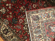 "Load image into Gallery viewer, Exceptional Esfahan - 1930s Antique Persian Rug - Tribal Design - 4'5"" x 6'10"" ft."