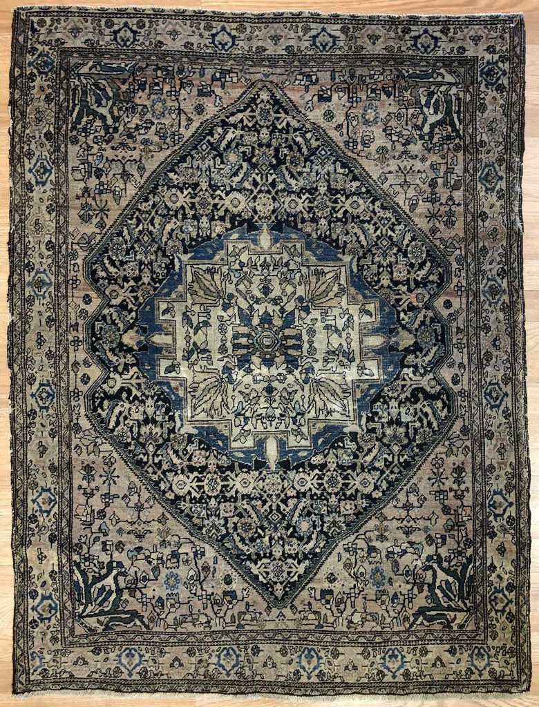 "Tremendous Tafresh - 1890s Antique Persian Rug - Malayer Carpet - 3'6"" x 4'8"" ft."