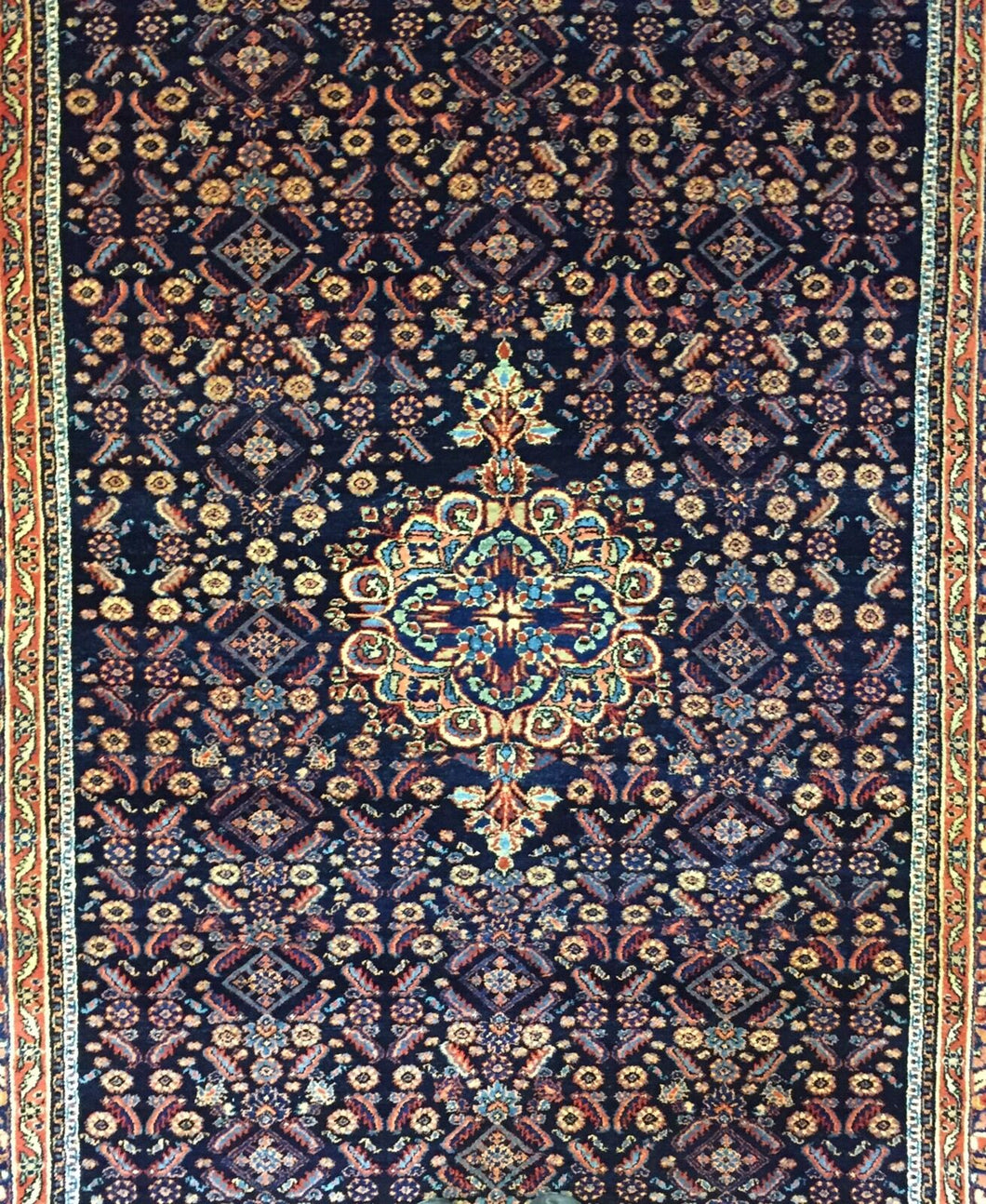 Quality Qazvin - 1920s Antique Persian Rug - Gallery Carpet - 6' x 12'2