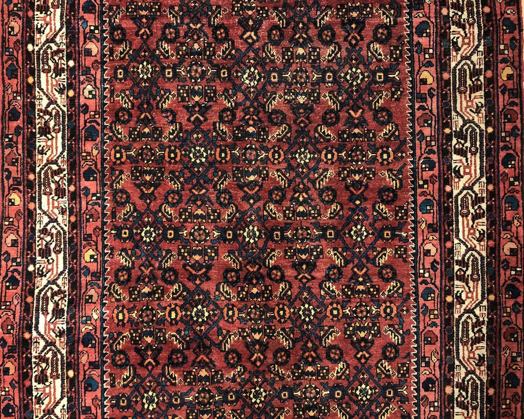 Handsome Hamadan - 1920s Antique Persian Rug - Tribal Gallery - 5'4