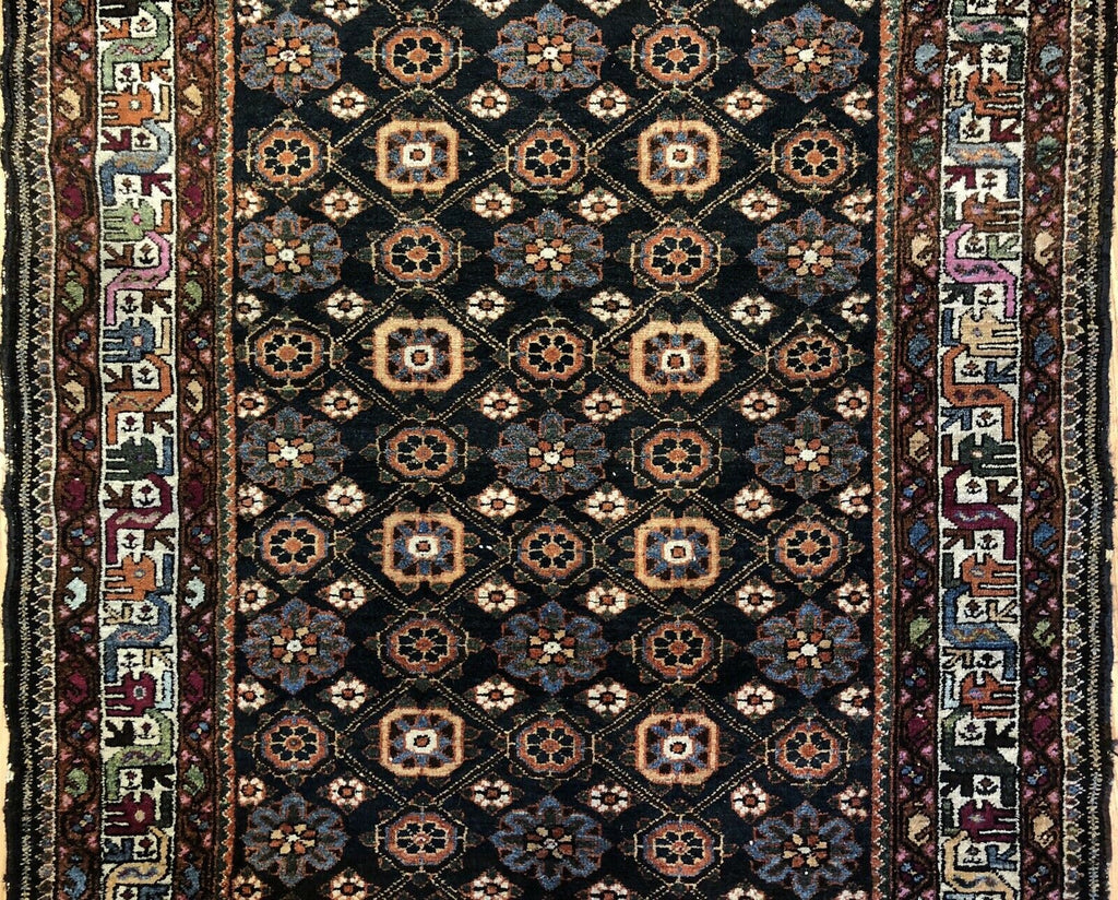"Beautiful Bakhtiari - 1900s Antique Persian Rug - Tribal Carpet - 4'4"" x 6'2"" ft."