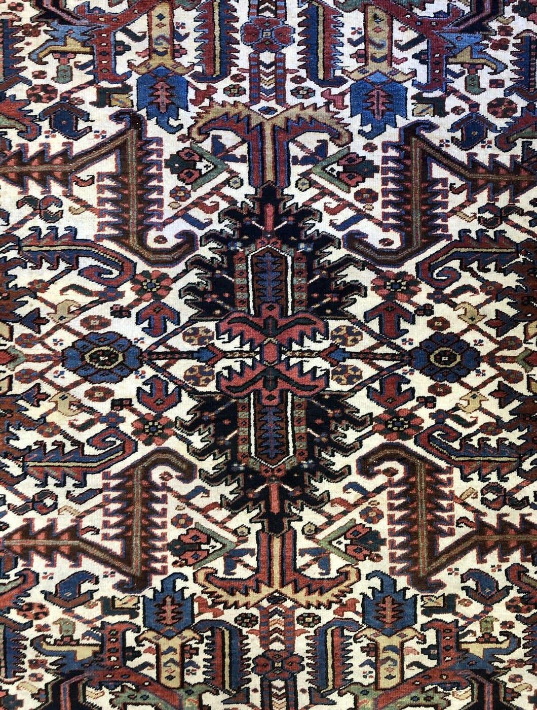 Handsome Heriz - 1920s Antique Persian Rug - Tribal Carpet - 7'5