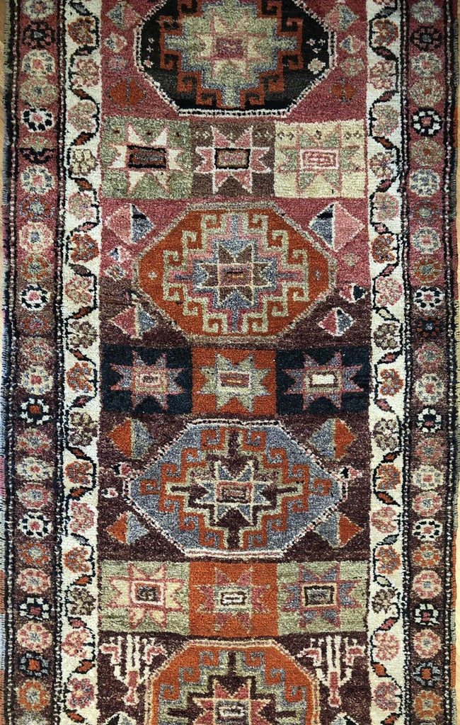 "Tranquil Turkish - Vintage Oushak Rug - Tribal Runner - 3'1"" x 13'1"" ft."