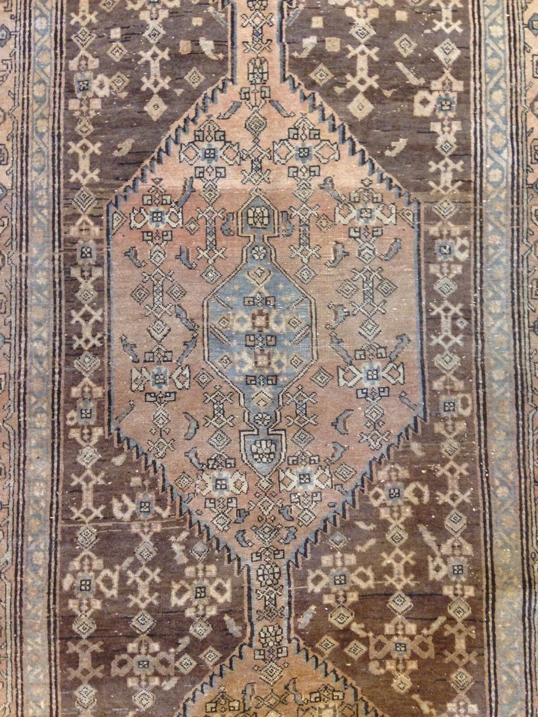 Marvelous Malayer - 1940s Antique Persian Rug - Gallery Runner - 4'8