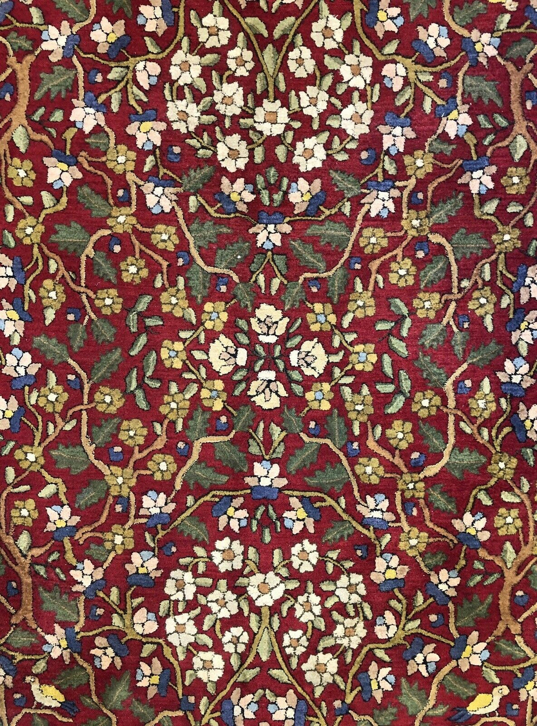 Tremendous Tetex - 1940s Antique German Rug - Hooked Carpet - 8'3