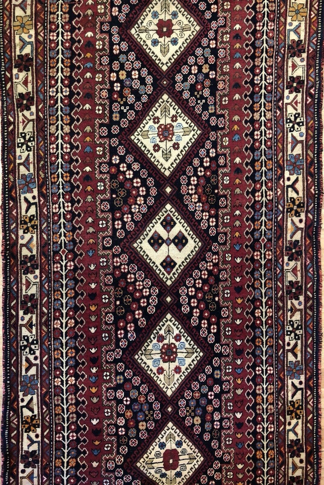 Special Shiraz - 1940s Antique Persian Rug - Tribal Runner - 3'5