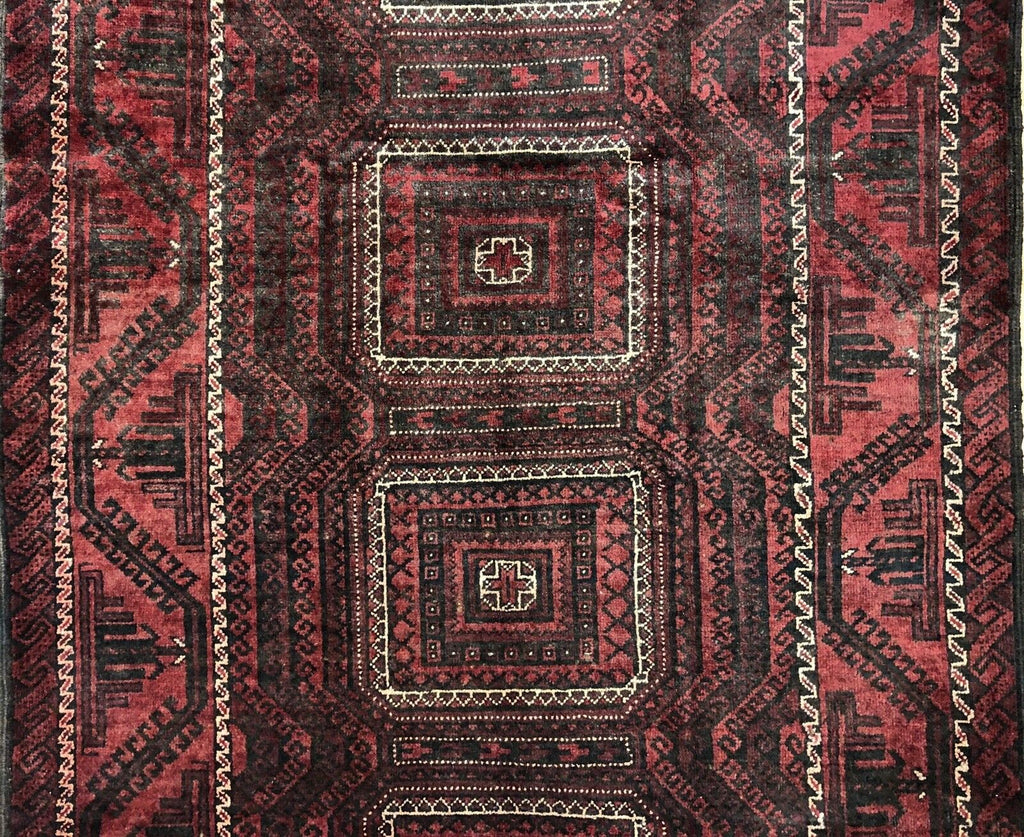 "Beautiful Balouch - 1940s Antique Persian Rug - Tribal Carpet - 4'8"" x 7'5"" ft."