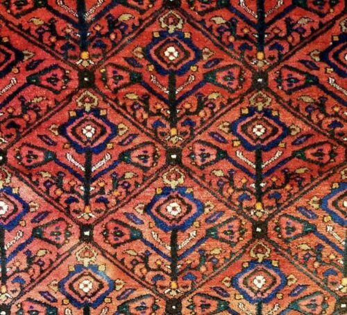 Koliaei Kurdish - 1920s Antique Tribal Rug - Oriental Carpet - 4'6