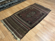 "Load image into Gallery viewer, Special Sumak - 1940s Antique Flatweave Kilim - Tribal Persian Rug - 2'10"" x 5'6"" ft"