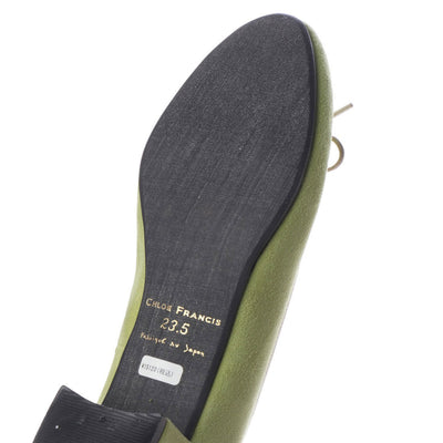 EF302 LS011 GRN-Leather Suede
