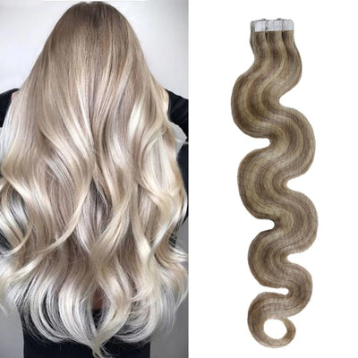 Highlights Blonde Body Wave Tape-In Remy Human Hair Extensions Set