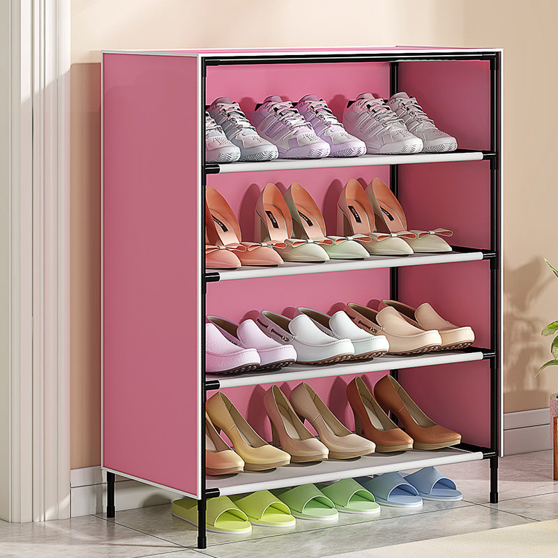Dustproof Shoes Rack Stable Storage Shelf for Home 59*28*64.5cm brown