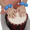 1 Pair Wrist Sand Egg African Drum Ukulele Dedicated Accompaniment Shakers Rhythm Instrument Sand Egg  blue