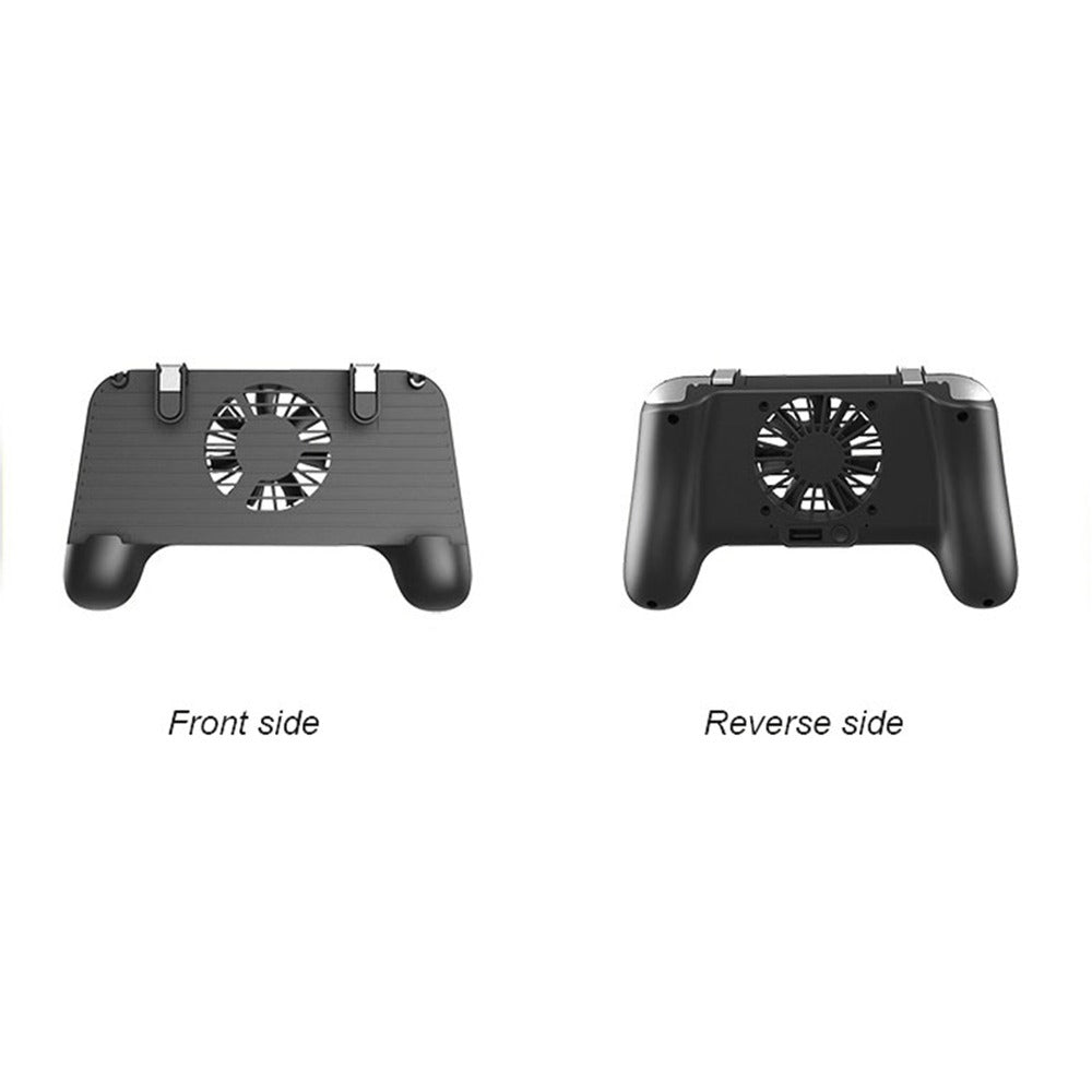 PUBG L1R1 Game Shooter Mobile Phone Gamepad Game Joystick Controller Ultra-Portable Grip Holder with Mute Heat Dissipation Fan black