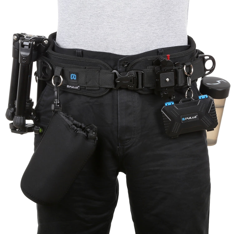 PULUZ Multi-function Waist Pack Camera Climbing Belt for Outdoor Hiking Climbing Fishing Hunting  black