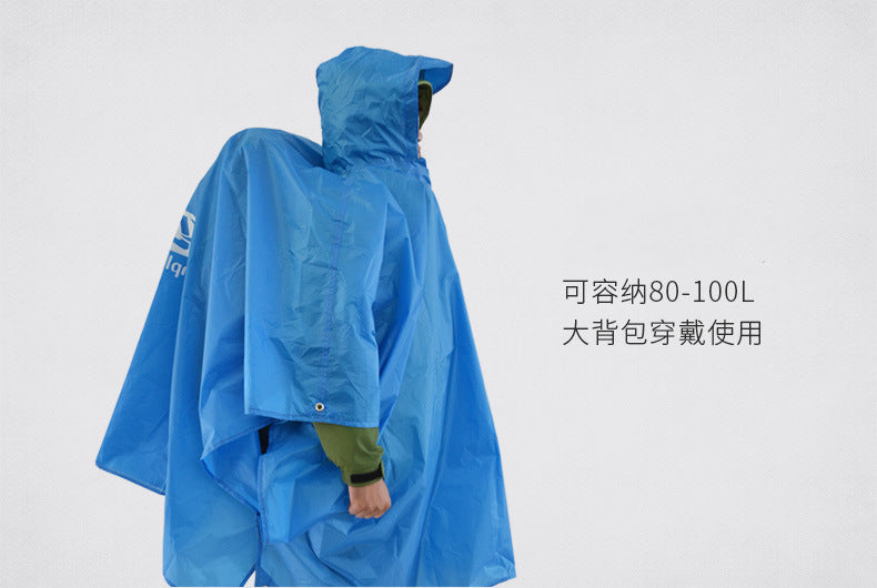 Raincoats 3 In 1 Portable Mountaineering Multi-fonction Raincoat Orange