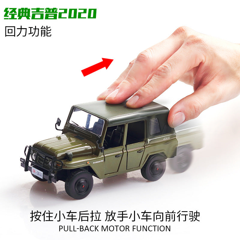 1:32 Alloy Sound Light Pull Back Simulate Car Toy for Kids white