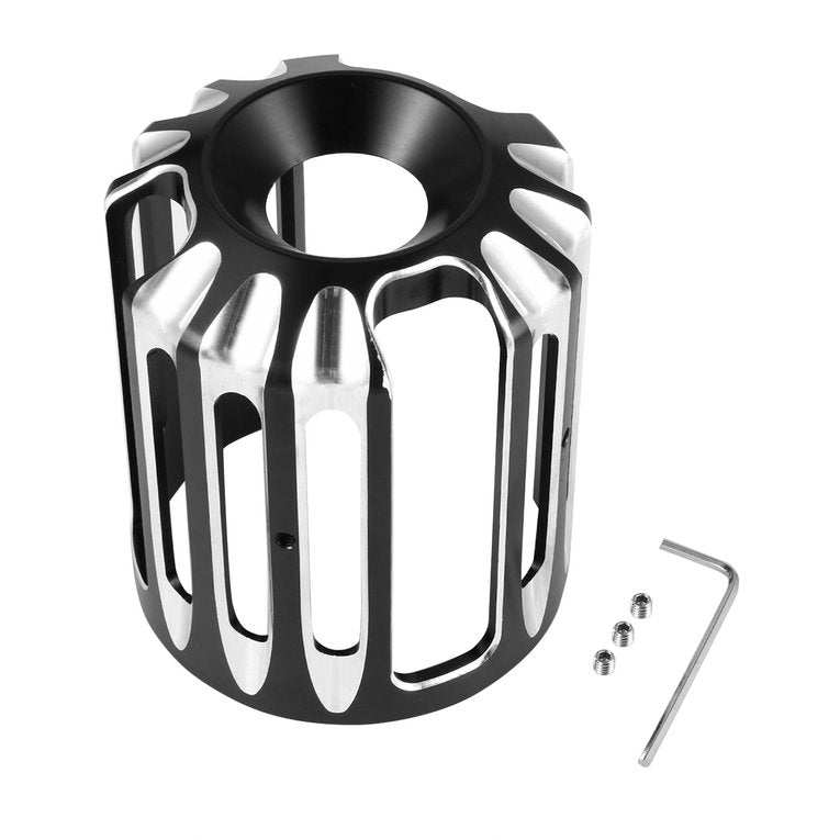 Oil Filter Cover Aluminum Alloy  For  Sportster Motorcycles  iron-plated color_The New type