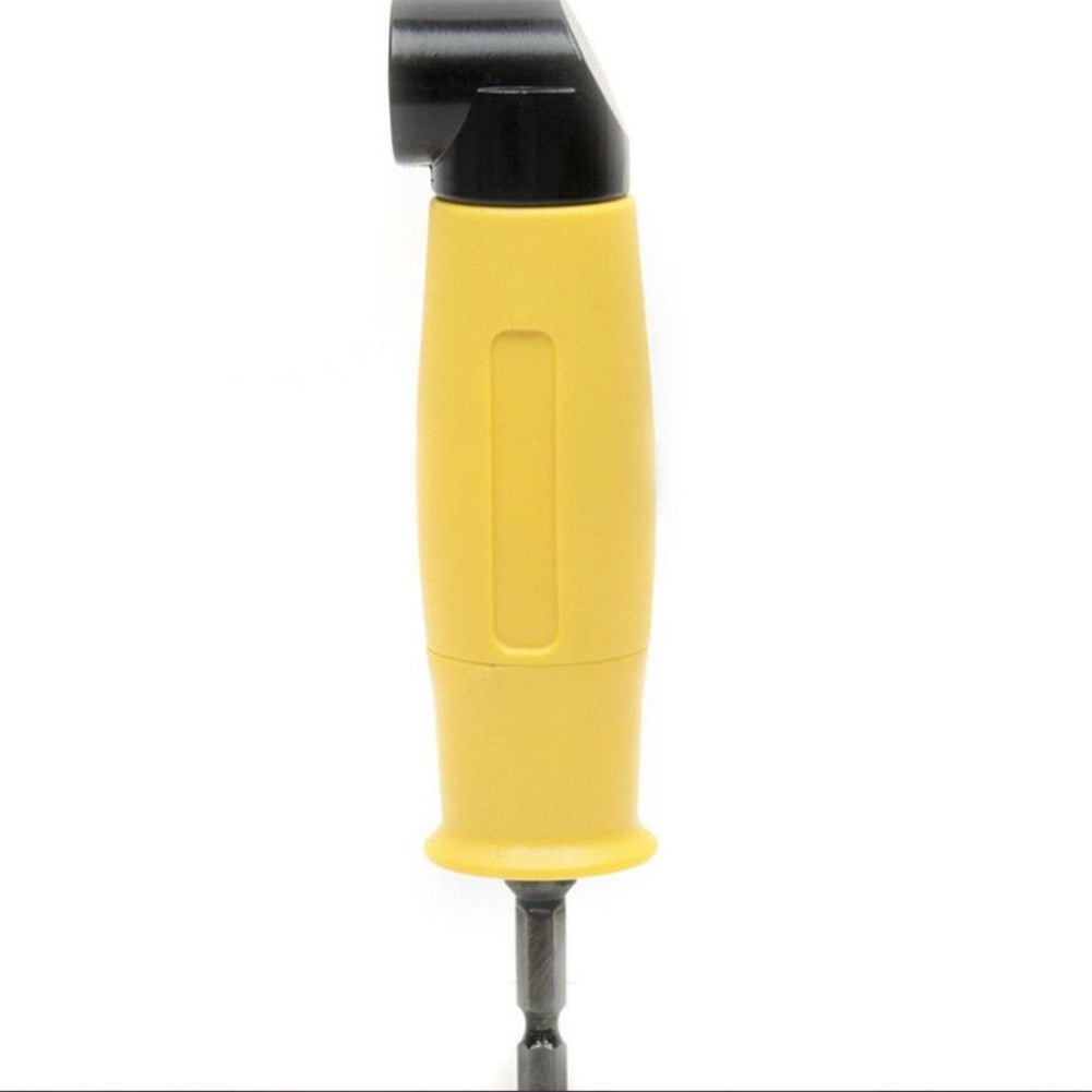 Adapter Screwdriver Bit 1/4 90 Degree Hexagonal Bending Chuck Drill Attachment yellow