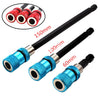 3pcs Quick Release Extension Bit Holder Extension Rod Tool for Electric Screwdriver 3pcs red