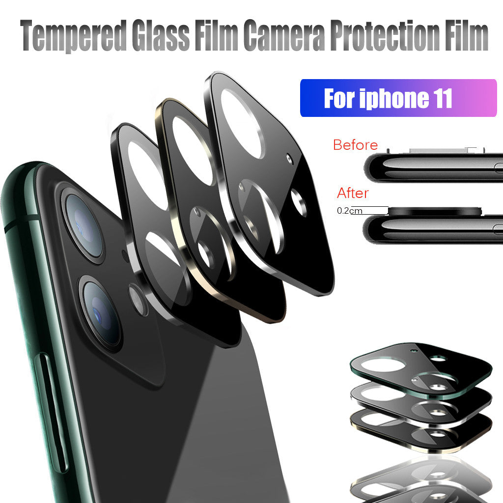 Metal Screen Rear Camera Lens Protector Back Camera Accessories for Mobile Phone Lens Protection green
