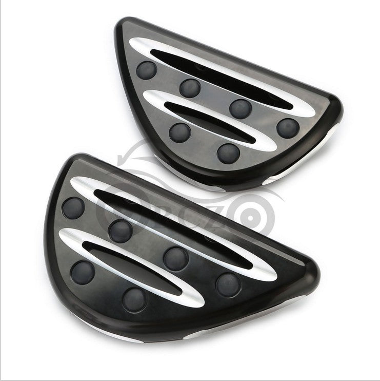 2PCS Motorcycle Foot Pegs or Gear Lever Foot Rests Pedal for  Glide Street Glide  Black and white
