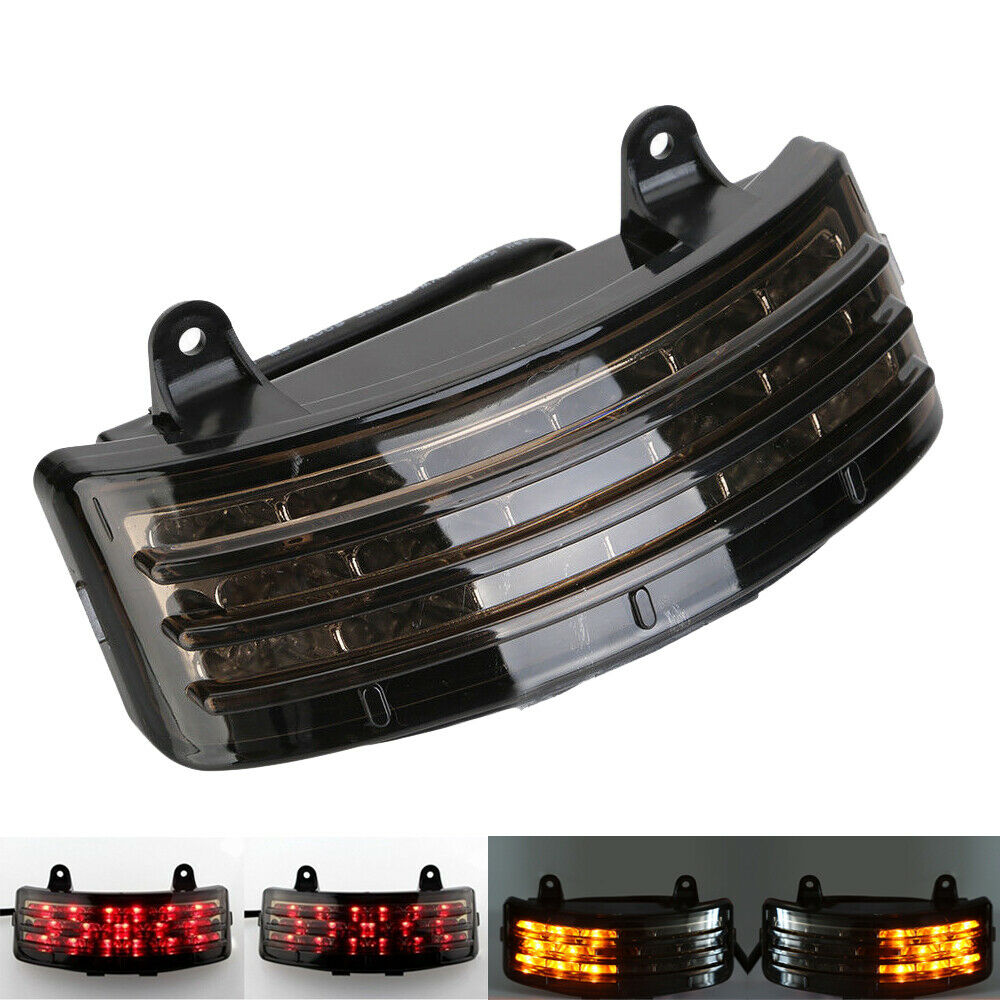 Tri-Bar Splash Guard LED Tail Brake Turn Signal Light for  Touring Street Glide