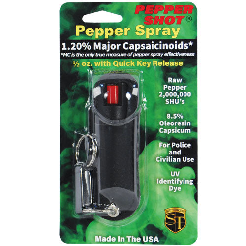 Pepper Shot 1.2% MC 1/2 oz Halo Holster Black