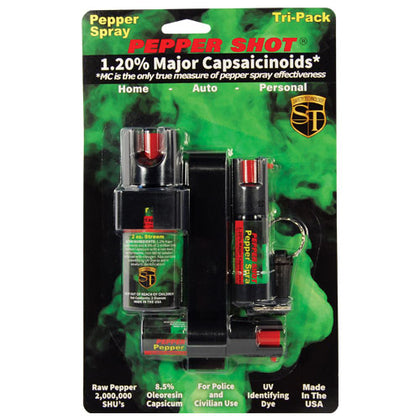 Pepper Shot 1.2% MC Tri-pack pepper spray