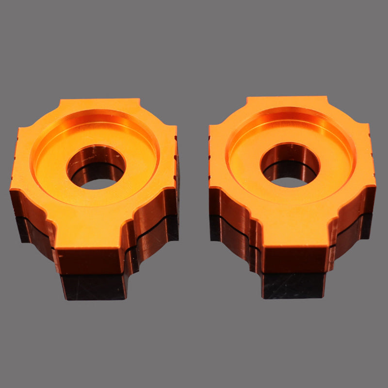 Motorcycle CNC Rear Axle Blocks Chain Adjuster for KTM DUKE125 200 390 Orange