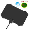 80 Miles Ultra Strong Signal Indoor TV Amplified HDTV High Reception Antenna Digital TV Antenna for 4K VHF UHF Channels  black