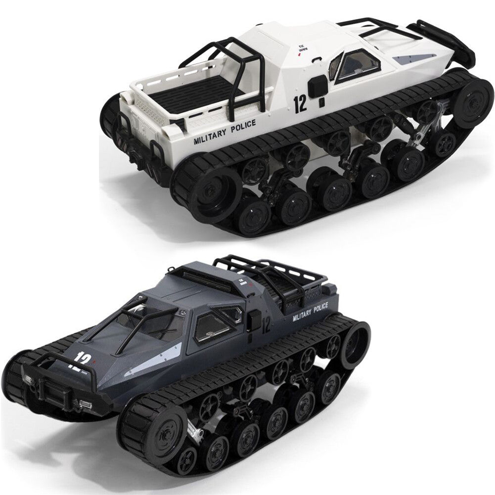 SG 1203 World of RC Tank Car 2.4G 1:12 High Speed Full Proportional Control Vehicle Models Wading Depth With Gull-wing Door Metal Crawler white 2 batteries