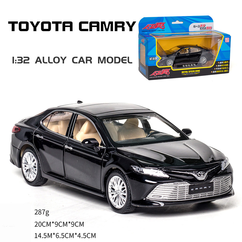 1:32 Simulation Car Model Light Music Effect Doors Open Alloy Pull Back Auto Toy Gift Collection black