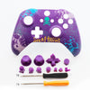 Front Top Up Shell Case Housing Face Plate for Xbox One S Controller Game Cover  Purple skull