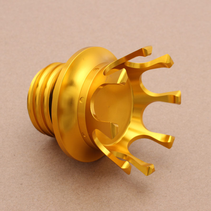 Motorcycle Gas Cap King Crown Style Flush Oil Fuel Tank Cap Bronze