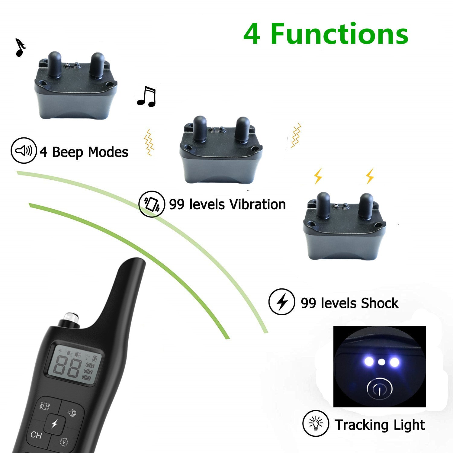 Dog Trainer No Barking 800m Remote Electric Shock Vibration Pet Dog Training Electronic Collar Waterproof 885-1 drag one_British standard