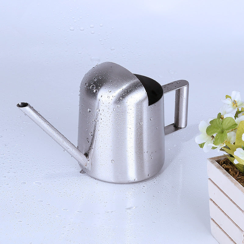 300ML Household Stainless Steel Watering Can Kettle Garden Water Bottle Plant Flower Sprinkling Pot Silver