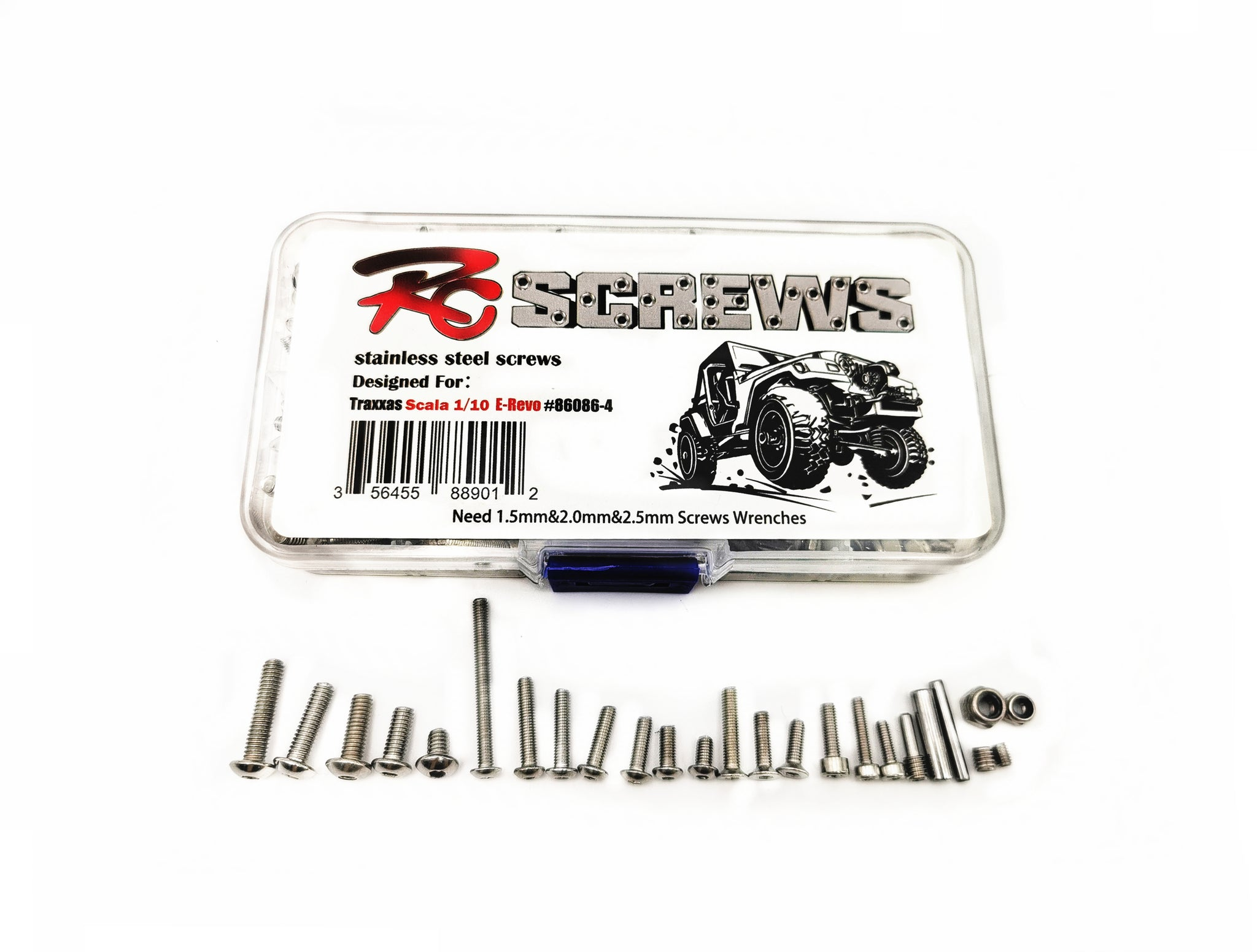 Traxxas TRX-4 Metal Machine Screw Nuts Kingpin for 1/10 Crawler Rc Car Parts
