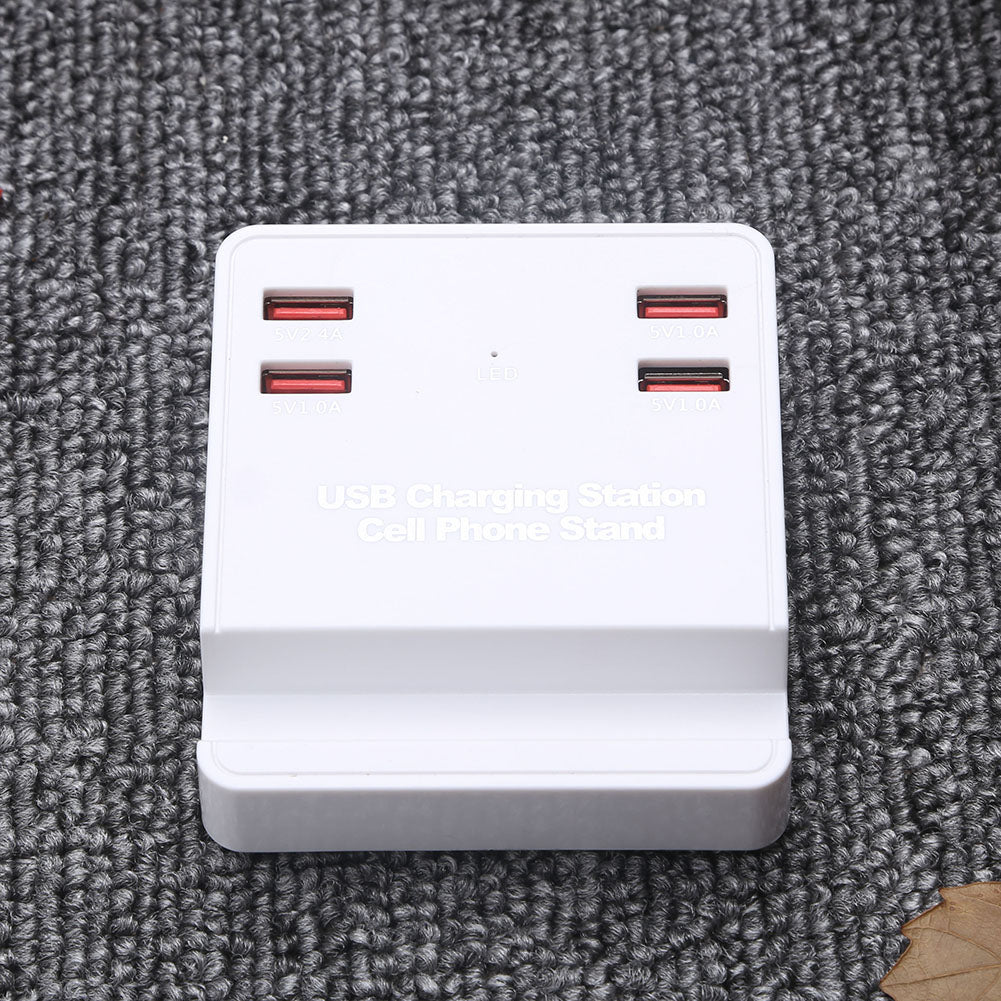 4 USB Ports Mobile Phone Travel Charger Fast Charge Multi-port Smart Bracket USB Charger AU Plug