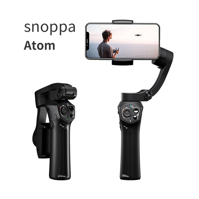 Universal Foldable Pocket-sized Handheld Gimbal Stabilizer for 11 Pro XS MAX Smartphone  Standard suit pink