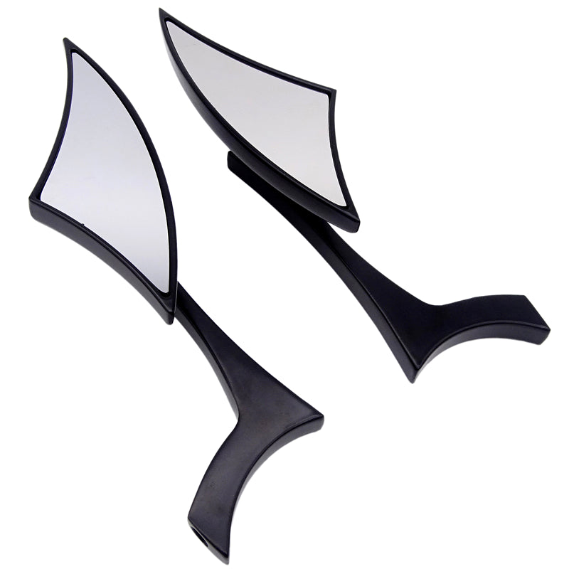 Universal Rearview Mirror Aluminium Alloy Blade Motorcycle Rearview Side Mirrors black