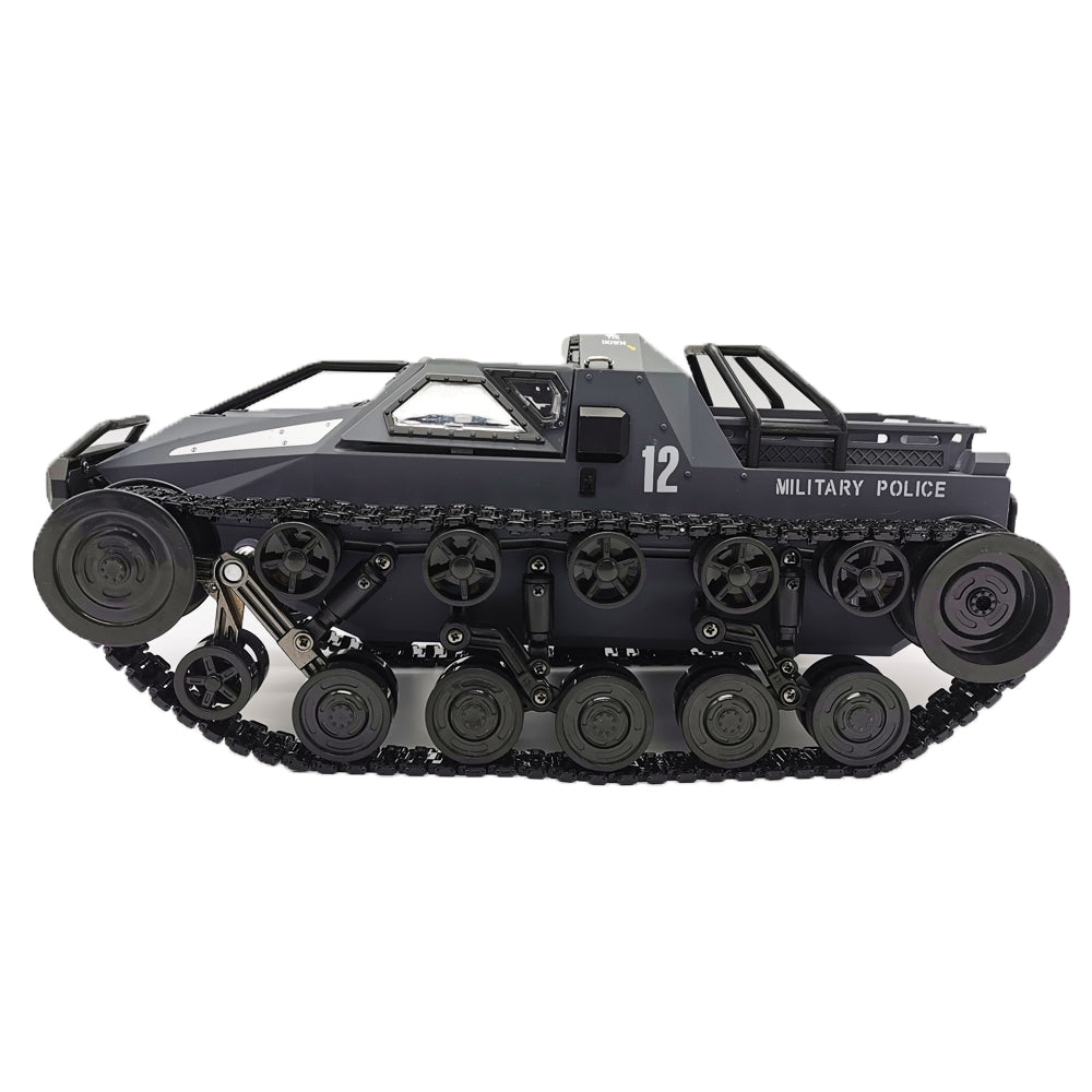 SG 1203 World of RC Tank Car 2.4G 1:12 High Speed Full Proportional Control Vehicle Models Wading Depth With Gull-wing Door Metal Crawler gray_Dual battery