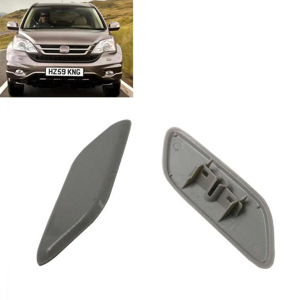 2Pcs Left+Right Caps Cover Headlight Cleaning Washer Nozzle Cover for Honda CRV 2006-2012