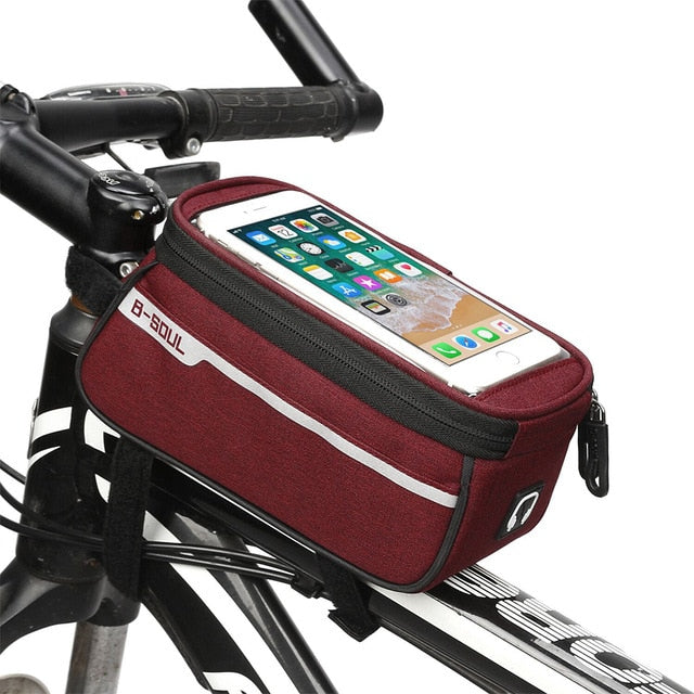 Waterproof Phone Holder Bike for Bicycle Front Tube Frame - 4aces Gadets